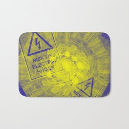 Abstract risk of electric shock Bath Mat