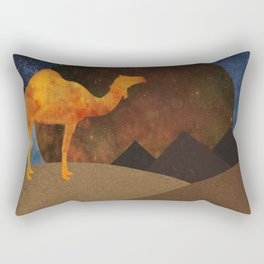 Camel, Desert and Pyramid Rectangular Pillow