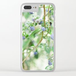 Blueberry Days Clear iPhone Case