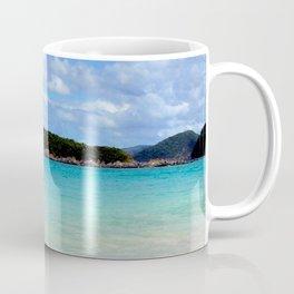 Watercolor Landscape Cinnamon Bay Beach 02, This is the Life! Coffee Mug