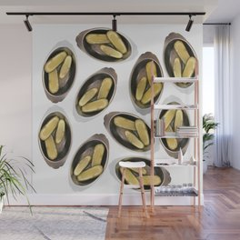 Delightful Deli Pickle Pattern From New York City Wall Mural