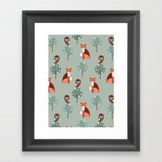 Fox Woods Framed Art Print
