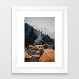 Himalayan Campsite Framed Art Print
