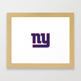 NYG Logo Framed Art Print