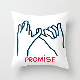 Promised hand emoji Throw Pillow