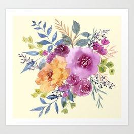 expressive bouquet Art Print