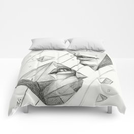 Surreal Geometry Shapes Comforters