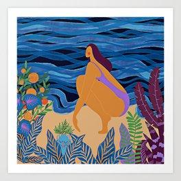 Eve at the beach Art Print