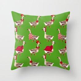 Christmas Goose Throw Pillow