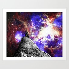 Uppercase A Art Print Ambrosia Star Gazing