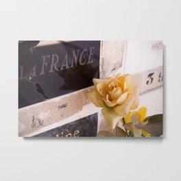 Une rose en France Metal Print