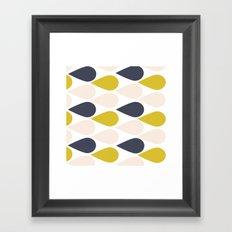 Horizontal Rain Framed Art Print