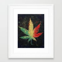 marijuana Framed Art Prints featuring Marijuana by Michael Creese