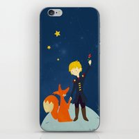 le petit prince iPhone & iPod Skins featuring Le petit prince by LaFilleCoquette