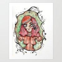 """Hey Girl!"" Art Print"