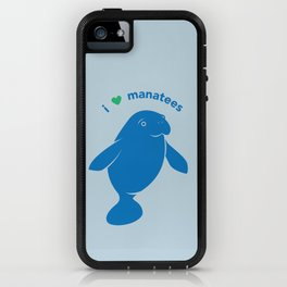 I love Manatees iPhone Case