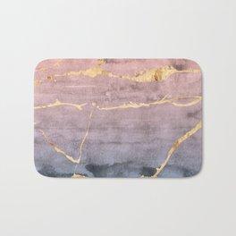 Watercolor Gradient Gold Foil Bath Mat