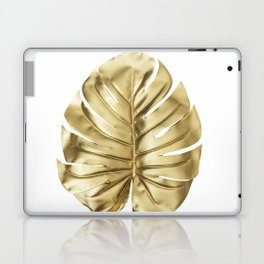 Gold monstera minimal Laptop & iPad Skin
