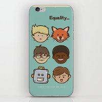 equality iPhone & iPod Skins featuring Equality by Dude Poncio