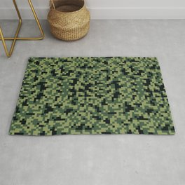 8bit camouflage pattern Rug