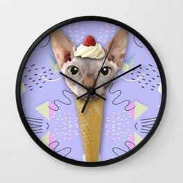 SPHYNX CAT ICE CREAM Wall Clock