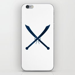 Blue Chinese Swords iPhone Skin