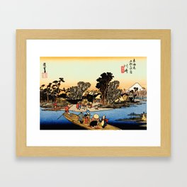 Kawasaki on the Tokaido Road Framed Art Print