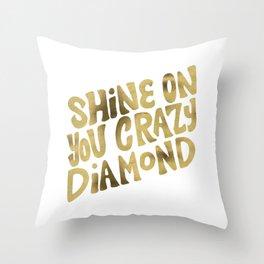 Shine On You Crazy Diamond – Gold Palette Throw Pillow