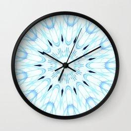 Baby Blue Mandala Wall Clock