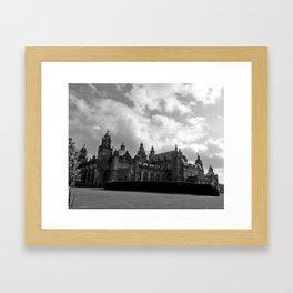 Kelvingrove Art Galleries and Museum b/w Framed Art Print