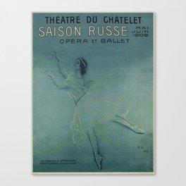 Vintage poster - Saison Russe Canvas Print