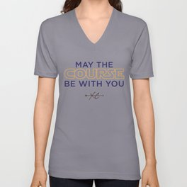 Purple & Gold: May the Course be With You Cross Country Unisex V-Neck