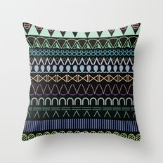 hitam tatam Throw Pillow
