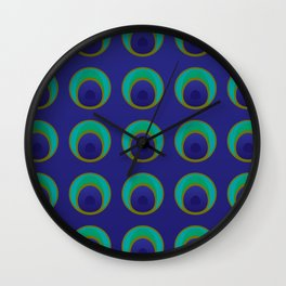 stylized peacock feather pattern Wall Clock
