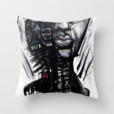 YES wolf Throw Pillow