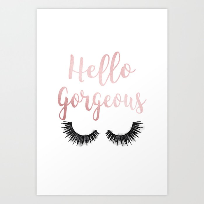 Hello Gorgeous, Lashes, Lash, Eyelash, Eyelashes, Rose