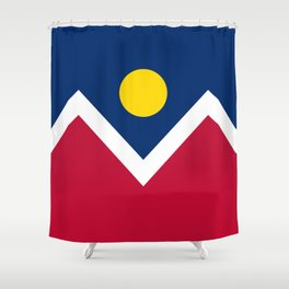 Denver City Flag - Authentic High Quality Shower Curtain