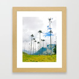 Palms in the Cocora Valley Fine Art Print Framed Art Print