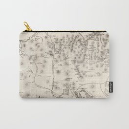 Vintage Map of The White Mountains (1872) Carry-All Pouch
