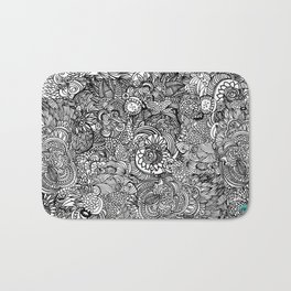 Cocoons and seeds Bath Mat