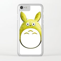 Spirit of the Forest, Yellow Clear iPhone Case