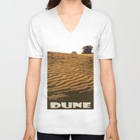 dune V-neck T-shirts featuring DUNE by Avigur