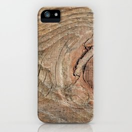 Wood with knot iPhone Case