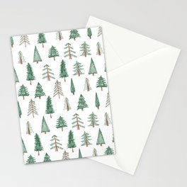 sketchy evergreen pattern Stationery Cards