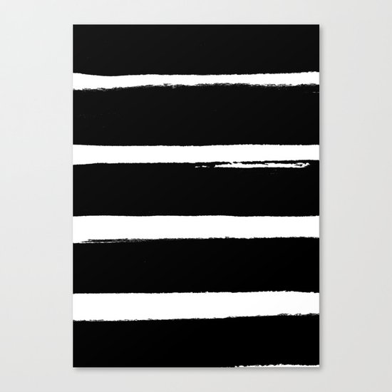 BLK Stripes Canvas Print