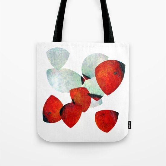 composition in red and grey Tote Bag