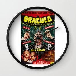 Dracula, vintage horror movie poster, 1931 Wall Clock