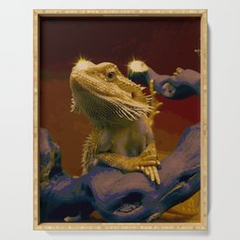 The Majestic Bearded Dragon Serving Tray