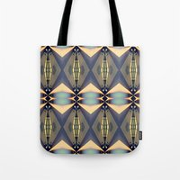 art deco Tote Bags featuring Art-deco by I-lin