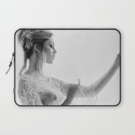 Brigitte Bardot in the looking glass black and white photography - black and white photographs Laptop Sleeve